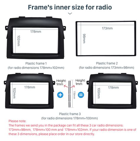 Frame Toyota 2004 2010 2din car radio fascia dash mount kit frame fitting for 2004 2010 toyota