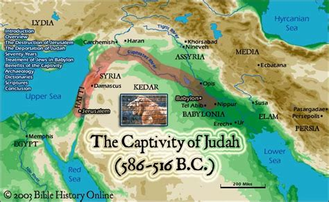 babylon and jerusalem map the babylonian captivity map included bible history