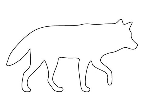 wolf template wolf pattern use the printable outline for crafts