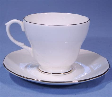 Cup On The Plate duchess white vintage bone china tea cup and saucer sold