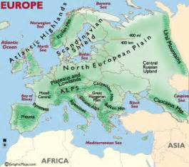 map of landforms continents europe map pictures