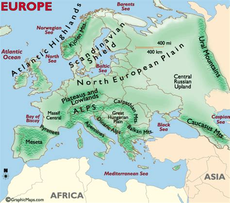 continents europe map pictures