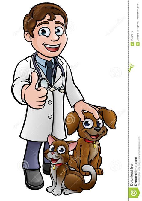 imagenes de medicas veterinarias personaje de dibujos animados del veterinario con el gato