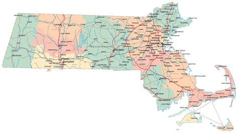 map usa massachusett large map of massachusetts montana map