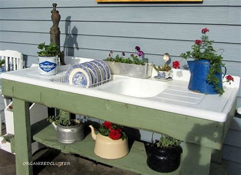 diy potting bench with sink 25 tempting potting benches hometalk curated board