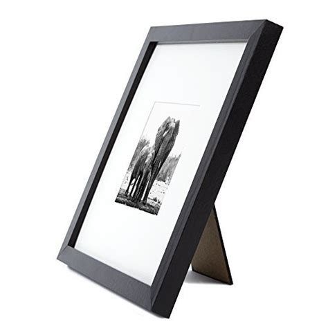 1 inch picture mat 8x8 black picture frame matted to fit pictures 4x4