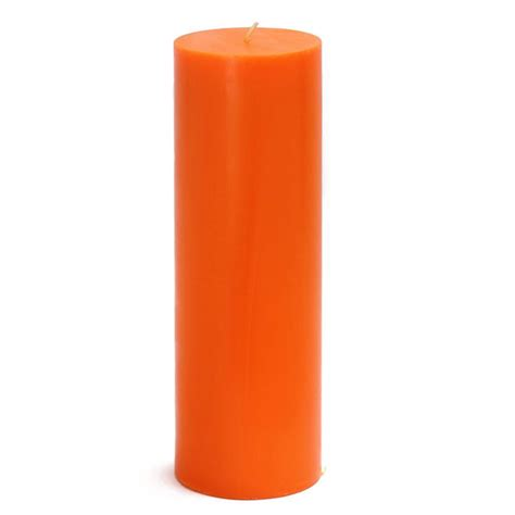 canapé modulables zest candle 3 in x 9 in orange pillar candles bulk 12