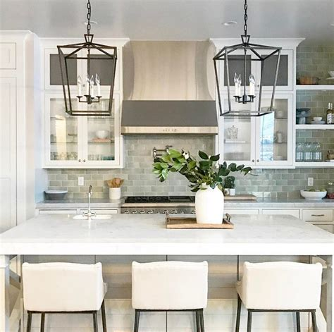 Kitchen Lantern Lights 37 Beautiful Farmhouse Interior Designs The Home Designer Co