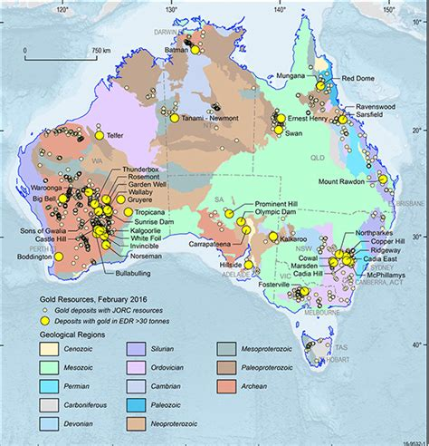 australia resource map gold geoscience australia