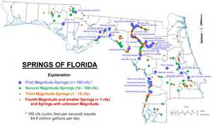 map of springs in welcome to the florida ground water protection springs