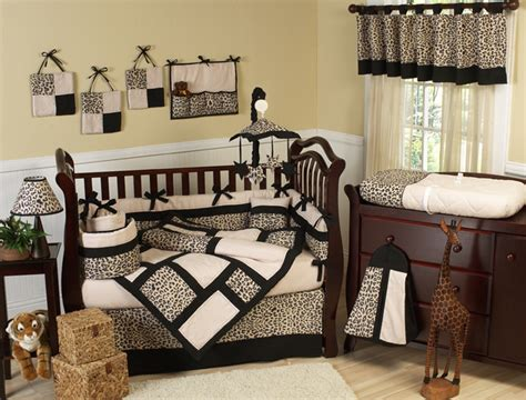 Cheetah Print Crib Set by Animal Print Neutral Safari Jungle Theme Crib Baby Bedding