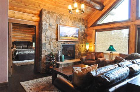 rustic log cabin rustic living room denver