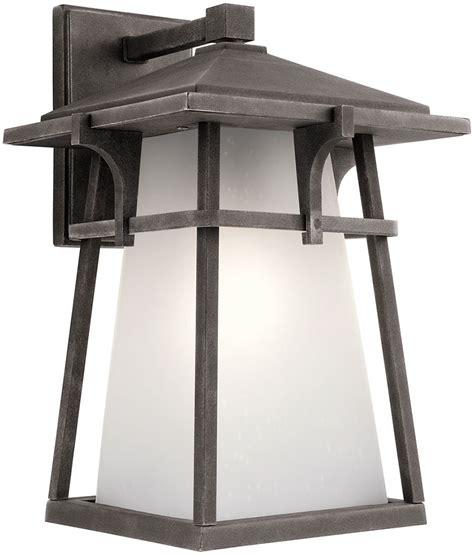 kichler exterior lighting kichler 49722wzc beckett weathered zinc exterior lighting