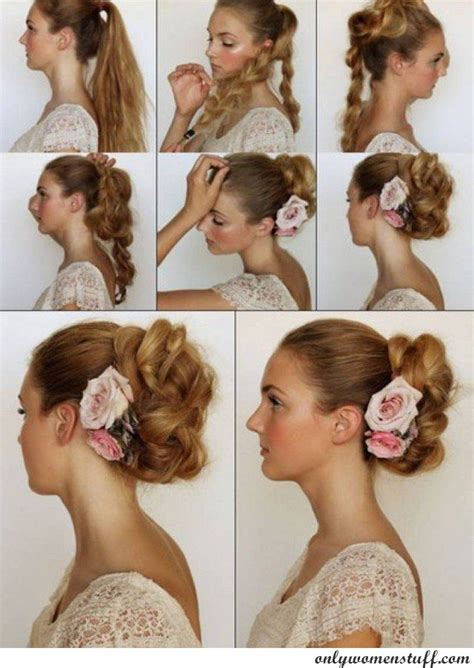 hairstyles for evening gowns step by step pictures beautful hair wedding style step by step image