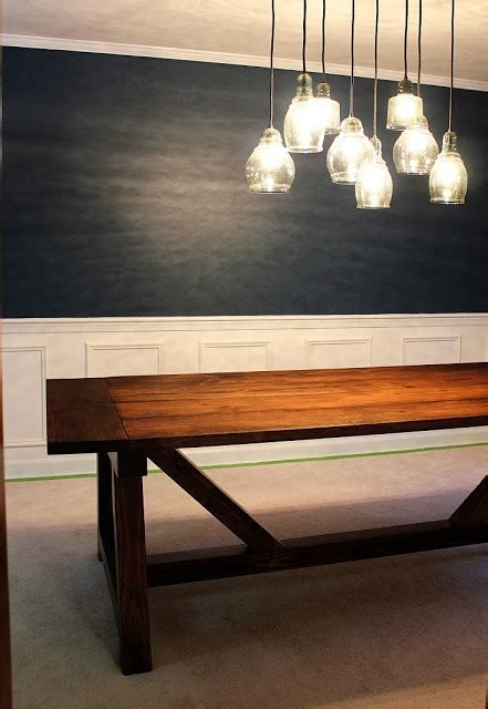ana white walnut truss beam dining table diy projects