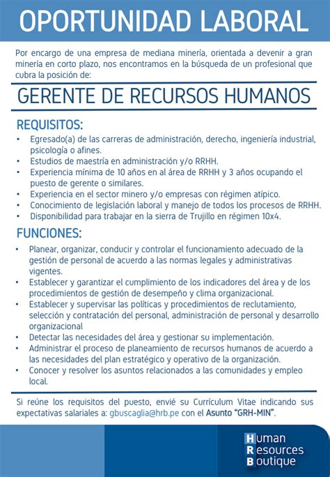 Ejemplo Curriculum Gerente De Recursos Humanos Gerente De Recursos Humanos Human Resources Boutique