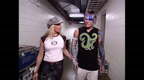 trish stratus jeff hardy 04 07 2003 wwe raw jeff hardy trish stratus backstage