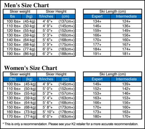 mens ski boots size chart without bindings