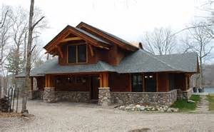 Arts And Crafts Floor Plans Pickerel Lake Craftsman Style Great Northern Woodworks