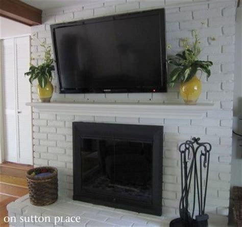 how to mount a tv on a brick fireplace entertainment rec