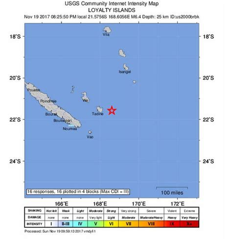 earthquake new caledonia new caledonia earthquake 6 6 magnitude quake strikes