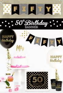 50th Birthday Banner Template by 50th Birthday Banner Template 50th Birthday Banner