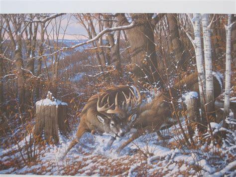 drer basic art series oakridge series complete set of four by michael sieve deer hunting prints ebay