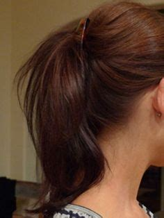 easy updos using claw clips on long hair wide side ponytail with banana clip clips and