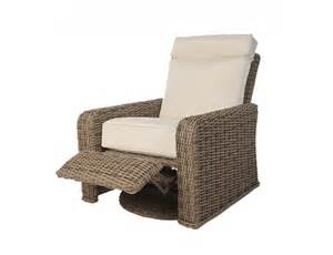 Outdoor Patio Recliner by Ebel Laurent Synthetic Wicker Swivel Recliner
