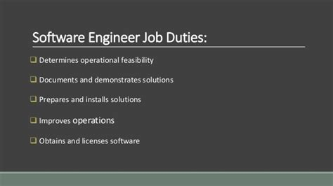 Software Engineer Responsibilities by Software Engineer Responsibilities