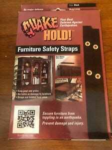 quake hold furniture strap kit  black consists