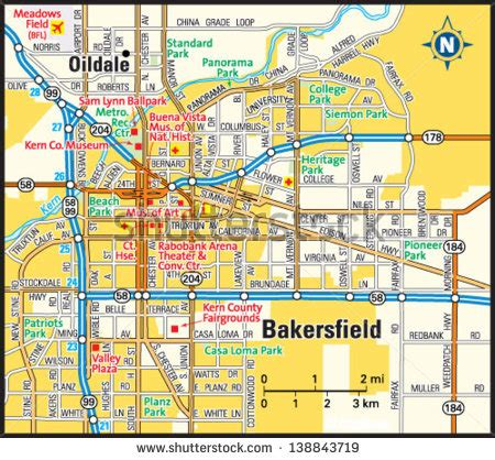 map of bakersfield bakersfield stock images royalty free images vectors