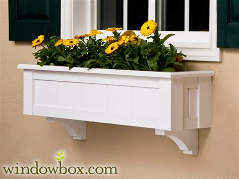 vinyl window boxes planters window planter boxes bracket cleat pvc window box