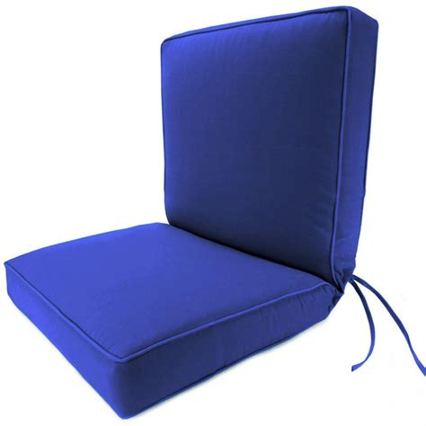 Patio Chair Cushions Mid Back Hton Bay Blue Texture Mid Back Outdoor Chair