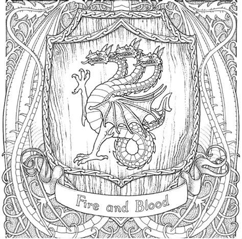 thrones colouring book colored el libro de juego de tronos para colorear silenzine