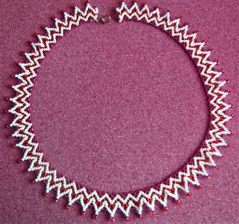 zig zag scallops necklace pattern free pattern for necklace donna halsk 230 der pinterest