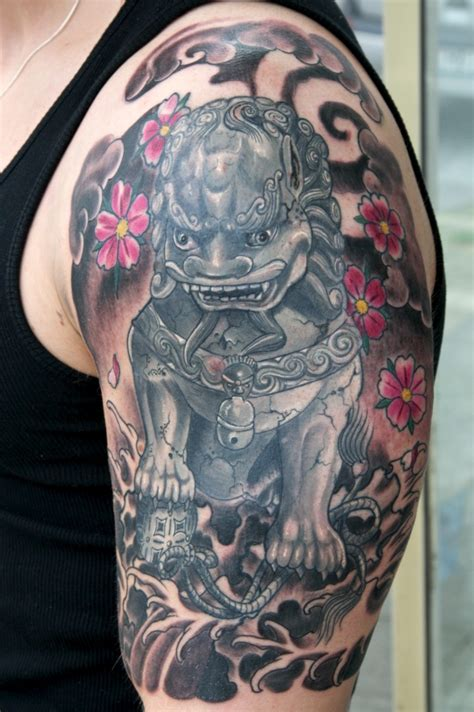 chinese dog tattoos designs fu designs