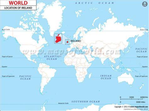 world map with ireland ireland location map preschool