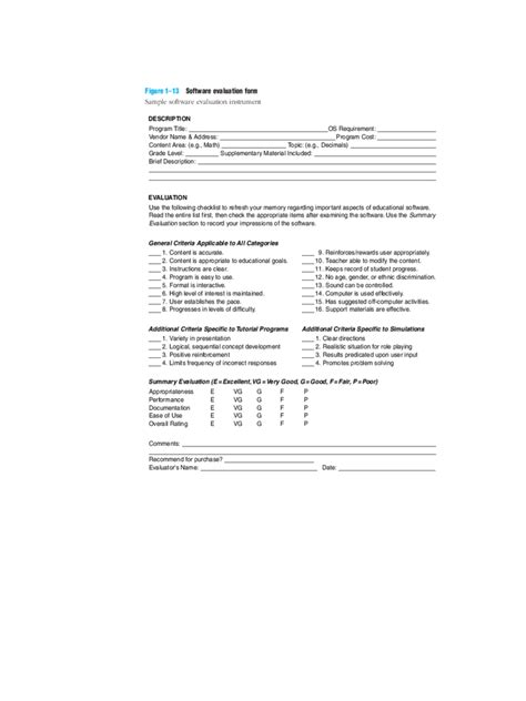 software evaluation template software evaluation form 2 free templates in pdf word