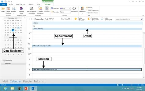 Where Is Calendar In Outlook 2013 Using The Calendar Feature In Microsoft Outlook 2013