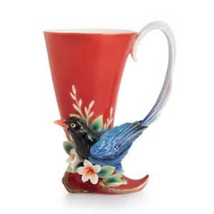 franz porcelain joyful magpie small vase