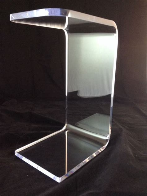lucite sofa table clear acrylic lucite plexiglass quot c quot sofa side table ebay