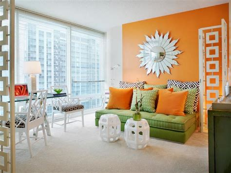 orange and green living room 50 bright and colorful room design ideas digsdigs