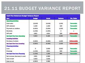 how to write a budget variance report
