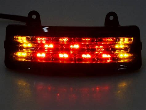 Led Brake Light Bar Smoke Tri Bar Fender Led Brake Signal Light For Harley Glide Touring Ebay