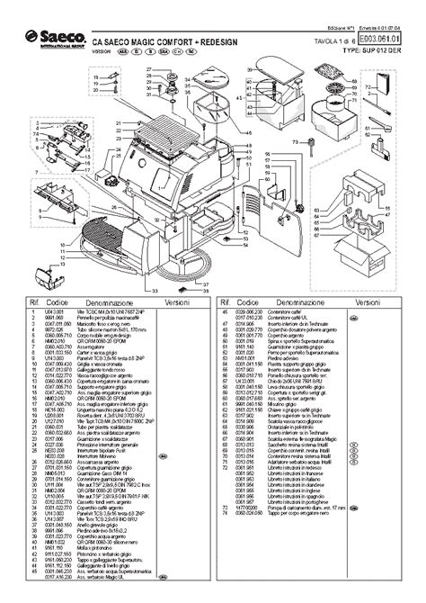 SAECO MAGIC COMFORT 2 REDESIGN Service Manual free download, schematics, eeprom, repair info for