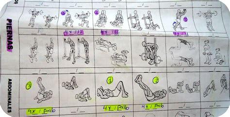 tabla de ejercicios con mancuernas para hacer en casa rutinas entrenamiento rutinas gimnasio musculaci n y pesas