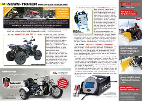 Motorrad Importieren Deutschland Nach österreich by Atv Magazin 2010 09 10 Atv Magazin