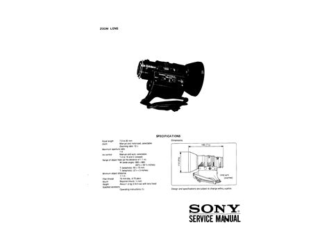sony vcl deh17r service manual sony vcl 712bx volume 2 service manual immediate download