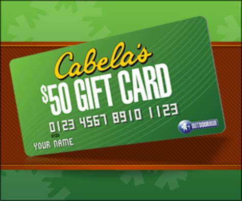 Where To Buy Cabela Gift Cards - outdoor hub partners with cabela s for a gift card